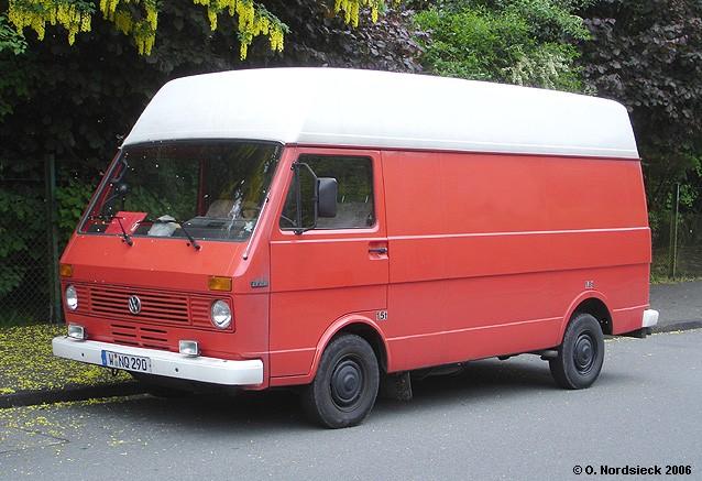 VW LT 28 Kasten / Hochdach 1975 wagte sich VW erstmals über die Größe des